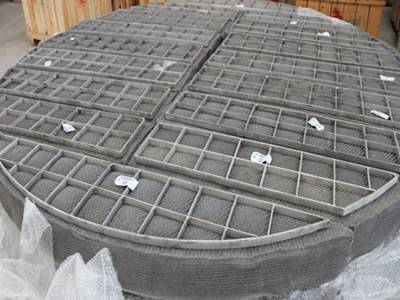 A stainless steel knitted wire mesh demister pads.