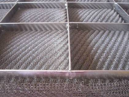 Shock absorber type wire mesh