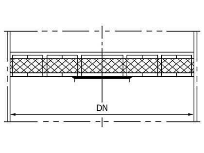 A drawing of download type demister pad.