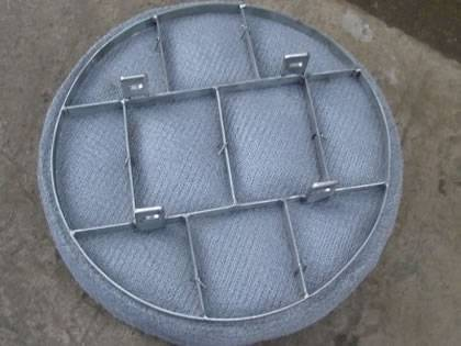 Circle shape SS demister pad with support grid